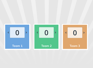 Met dit scorebord kun je tot scores bijhouden op het digibord tot 8 teams.