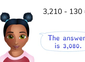 Students learn to subtract to 10,000 with regrouping.