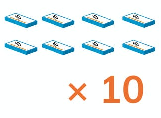 Students learn to multiply by 10.