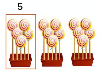 Tellen van hoeveelheden t/m 20 met 5-structuur