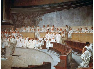 I can explain how society and government were structured in the Roman Republic.