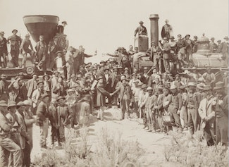 I can describe the transcontinental railroad and its effects on the movement...