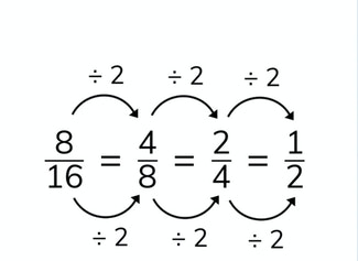 I can reduce simple fractions.