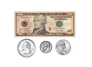 I can add coins and bills up to $20.
