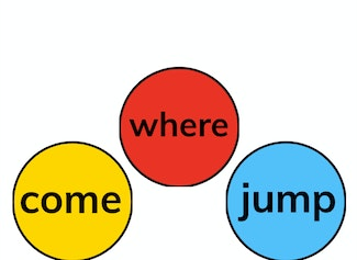 """I can build and read sight words """"come,"""" """"where,"""" and, """"jump."""""""