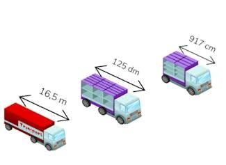 Vergelijken en ordenen van mm, cm, dm en m met kommagetallen