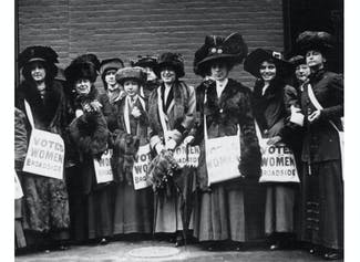 I can describe the women's suffrage movement in the United States.