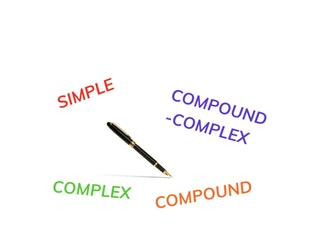 I can choose among simple, compound, complex, and compound-complex sentences.