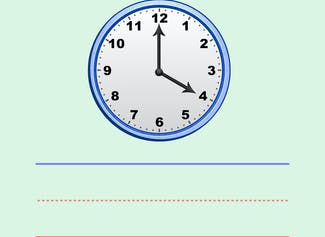 I can write and set time with whole hours using an analog clock.