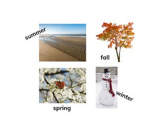 I can identify and describe all four seasons.