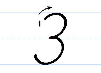 Practice handwriting with numbers from D'Nealian and Zaner-Bloser.