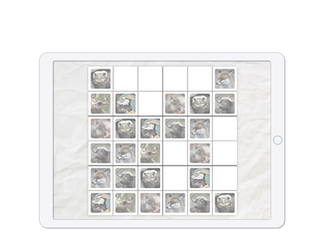 Play Sudoku by filling a 6x6 grid with animals.