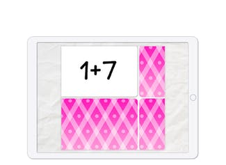A memory game to practice addition.