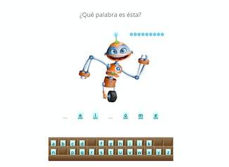 """Juega """"Salva al Robot"""" ¡con tus propias palabras!"""