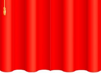 Una cortina de pantalla completa para ocultar y revelar algo en el pizarrón.