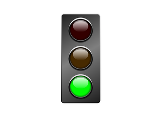A traffic light to help with classroom management.