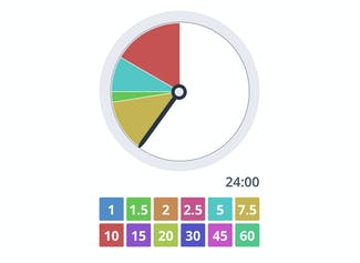 Display the time left for students' tasks.