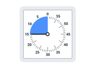 A useful classroom timer to take note of a certain amount of time.