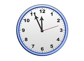 Muestra la hora en tu pizarrón interactivo.
