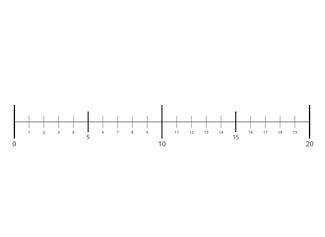 Crea rectas numéricas desde 0 hasta 10,000.