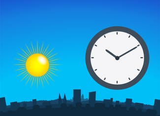 Learn about daytime and nighttime with analog and digital clocks.