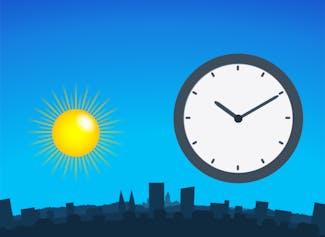 Breng het verloop van de tijd over de dag en nacht begrijpelijk in beeld.