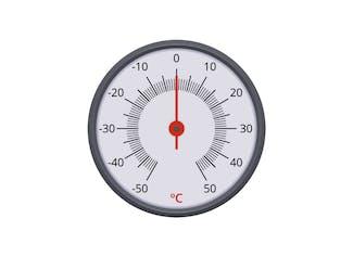 Temperatuur aflezen van verschillende soorten thermometers.