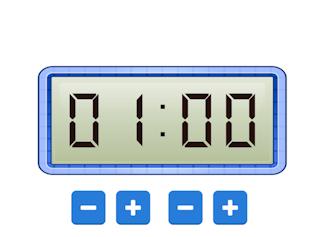 Een digitale klok waarbij jij de tijd kunt kiezen.